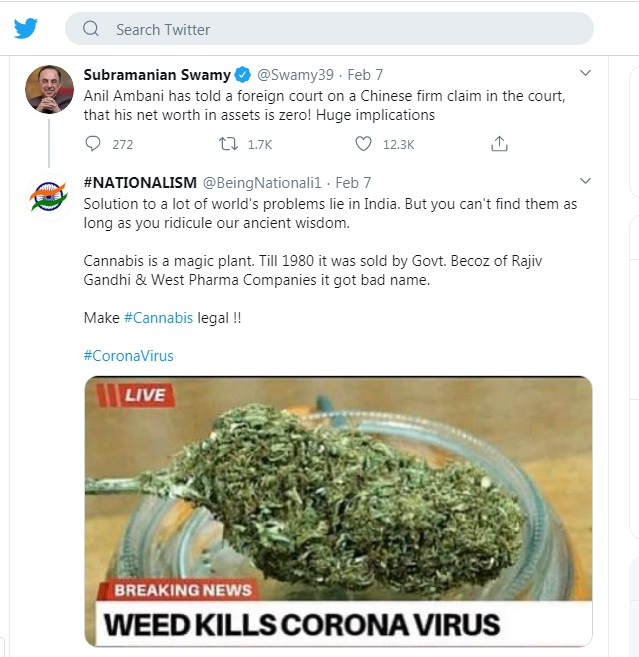 Cannabis vs Corona Virus